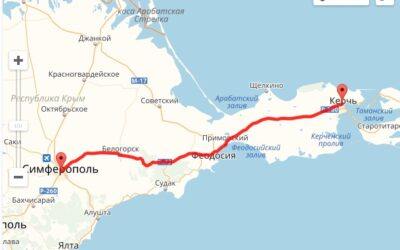 Расчет расстояний по Крыму