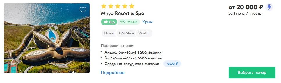 лучшие спа-отели крыма